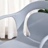 HOMCOM® 2-teiliges Esszimmerstuhl Set Stuhl Küchenstuhl Stahl Kunststoff Grau(m-7)