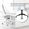 Vinsetto® Bürostuhl Drehstuhl Kippfunktion Leinen Grau Weiß(m-7)