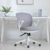 HOMCOM® Bürostuhl Drehstuhl Wippfunktion Netzdesign Grau Weiß(m-2)