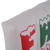 HOMCOM Weihnachtsdeko   Aufblasbar   Frohe Weihnachten Schriftzug   Beleuchtet   250 x 25x 75 cm   Weiß, Rot, Grün(m-7)