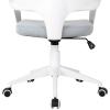 Vinsetto® Bürostuhl Drehstuhl Kippfunktion Leinen Grau Weiß(m-9)