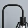 HOMCOM® Stehlampe Industriestil Standleuchte Sockel E27 Schwarz Stahl Marmor(m-7)