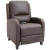 HOMCOM® Massagesessel mit Fußstütze und Heizfunktion | Relaxsessel | Braun | 70 x 93 x 100 cm(m-1)