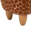HOMCOM® Hocker für Kinder Kinderhocker Sitzhocker Polsterhocker im Tier-Design Giraffe(m-11)