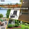 Outsunny® Schaukelstuhl Schwingsessel mit Fußstütze 3-fache Rückenlehne PE Rattan Schwarz(m-7)