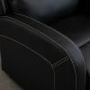 HOMCOM® Relaxsessel Liegesessel | Fernsehsessel | Veganleder | Schwarz | 70 x 93 x 100 cm(m-9)