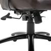 Vinsetto® Chefsessel Bürostuhl Wippfunktion Kopfkissen Braun(m-10)