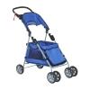 PawHut® Hundebuggy Hundewagen mit Sonnendach Stahl Blau(m-5)