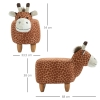 HOMCOM® Hocker für Kinder Kinderhocker Sitzhocker Polsterhocker im Tier-Design Giraffe(m-2)