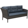 Outsunny® Rattan Gartenmöbel 5-tlg. Sitzgarnitur Outdoor-Sitzgruppe Loungeset Metall Grau(m-5)