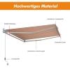 Outsunny® Markise Alu-Gelenkarm Gelenkarmmarkise 5 Farbe Sonnenschutz 3/3,5 /4/4,5m Balkon(m-4)