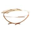 Outsunny® Hängematte mit Gestell Sonnenliege Gartenliege Sonnendach Lärche Holz 180kg(m-6)