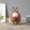 HOMCOM® Hocker für Kinder Kinderhocker Sitzhocker Polsterhocker im Tier-Design Giraffe(m-4)