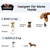 PawHut® Hundesofa Hundebett Hunde Couch Haustier Waschbar Erhöhte Füße Samt Schwarz(m-5)