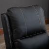HOMCOM® Relaxsessel Liegesessel | Fernsehsessel | Veganleder | Schwarz | 70 x 93 x 100 cm(m-8)