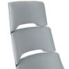 Vinsetto® Bürostuhl Drehstuhl Kippfunktion Leinen Grau Weiß(m-10)