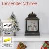 HOMCOM® Weihnachten Schneelaterne mit Schneemänner Musik Licht 6h Timer USB / Batterie(m-8)