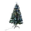 Homcom Weihnachtsbaum 180cm mit Ständer Glasfaser 7 Farben grün(m-2)