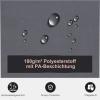 Outsunny® Doppel-Seitenmarkise Sichtschutz Seitenrollo Windschutz Polyester Grau L6xH1,8m(m-7)