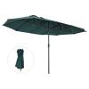 Parasol przeciwsłoneczny ogrodowy podwójny z korbką ręczną zielony owalny Outsunny®(m-1)