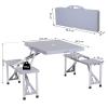 Stół kempingowy zestaw piknikowy składany 4 krzesła aluminium Outsunny(m-2)
