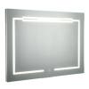 Kleankin® Lustro Wiszące Łazienkowe Led Antyparowe Włącznik Dotykowy Aluminium 70 X 50 Cm(m-3)