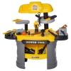 Stół warsztatowy dla dzieci stół warsztatowy do zabawy z 64 akcesoriami kolor żółty(m-4)