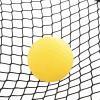 HOMCOM® Piłka Spike Zestaw do Grania w Piłkę 3 Piłki Mini Siatkówka na Zewnątrz Urządzenia Fitness ABS Żółta(m-7)