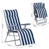 Outsunny® Leżak Ogrodowy Tarasowy Plażowy Składany x2(m-1)