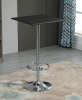 HOMCOM Square Pub Table Counter Bar Table Faux Leather Tabletop Adjustable Footrest(m-2)
