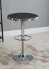HOMCOM Round Height Adjustable Pub Table  bar Table Faux Leather Tabletop and Footrest(m-10)