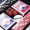 HOMCOM Juego de Póker con 300 Fichas Juego de Chips de Póquer con Caja de Aluminio(m-4)
