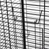 PawHut Jaula para Pájaro Metálica con 3 Perchas de Madera Extraíbles Espaciosa para Loros Canarios Cotorra Papagayo con 4 Ruedas 54x54x151 cm Negro(m-11)