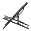 Leżak składany 2-częściowy zestaw składanych krzeseł ogrodowych kempingowych aluminium szare Outsunny(m-4)