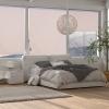 Markiza pionowa, aluminiowa markiza balkonowa z korbką ręczną, kremowa, 140 x 250 cm(m-2)