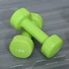 Zestaw hantli z walizką przenośny komplet hantli 6 szt. stal czerwony + żółty + zielony(m-7)