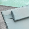 Podwójny leżak z technorattanu dla 2 osób z daszkiem przeciwsłonecznym stal(m-7)