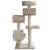PawHut Cats 6-Tier Scratch Tree w/ Dangle Toy Beige(m-8)