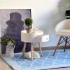 HOMCOM Round Coffee Table,  38 x 45H cm-White(m-9)