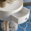HOMCOM Round Coffee Table,  38 x 45H cm-White(m-5)