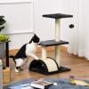 PawHut Cat Tree Tower w/ Scratching Posts Sisal Arc Pad Hanging Ball 40 x 35 x 72cm(m-7)